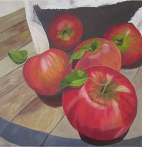 Red delicious in a bag  by Shona Jones