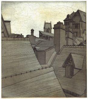 rooftops, mont saint-michel