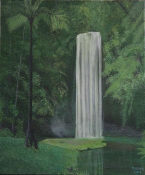 Queensland Tropical Waterfall Painting  ( Millaa Millaa Falls)