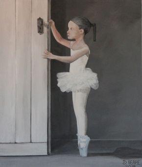 The Little Ballerina Painting
