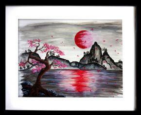Cherry blossom framed