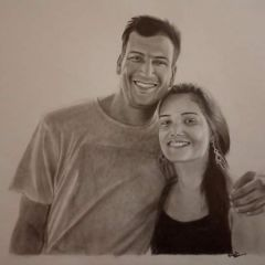 couple portrait sketch