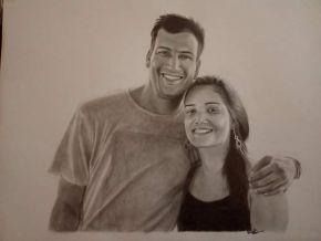 couple portrait sketch