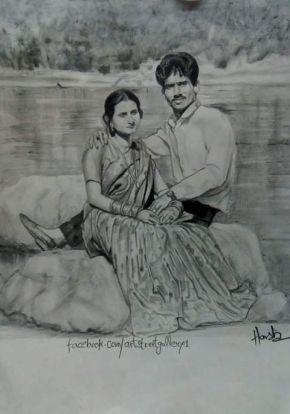 couple sketch artist in delhi
