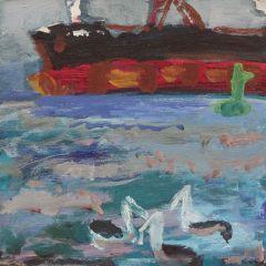 stokes-the-green-buoy-acylic-on-canvas-30x30cm