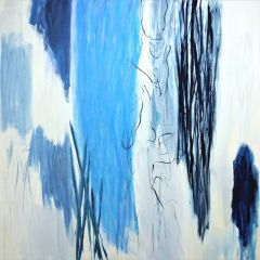 5.wendy stokes  conversation -183cm x183cm -acylic and oilstick on canvas