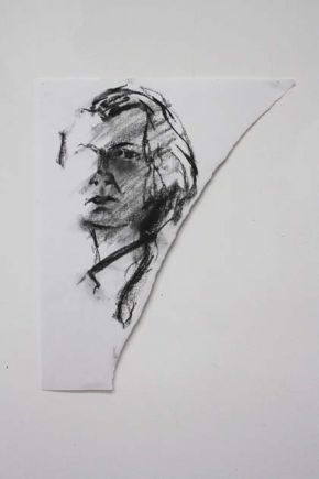 Self in Charcoal 2, Shelley Hall
