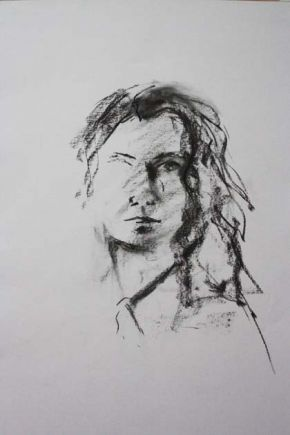 Self in Charcoal, Shelley Hall