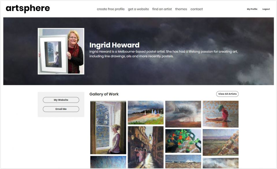 Profile page for Ingrid Heward