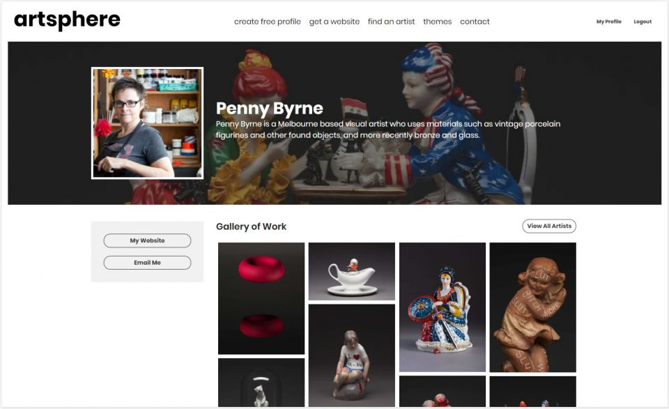 Profile page for Penny Byrne