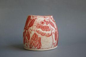 'Lorikeet' 2017 Manningham Victorian Ceramic Art award -FInalist by Adriana Christianson