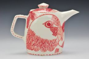 Porcelain 'Lorikeet' Teapot (image credit Charlie Cummings Gallery ) by Adriana Christianson