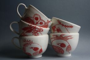 Porcelain Teacups by Adriana Christianson