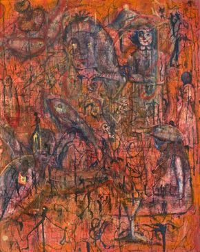 Hengameh Abedin-Life Is Complicated-Oil and Acrylic Painting on Canvas-70x100cm-2005-USD350