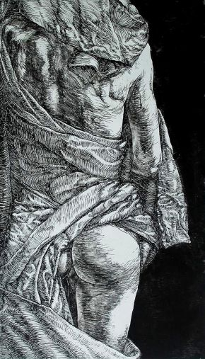 Virginity-Etching on paper-72x100cm-2014