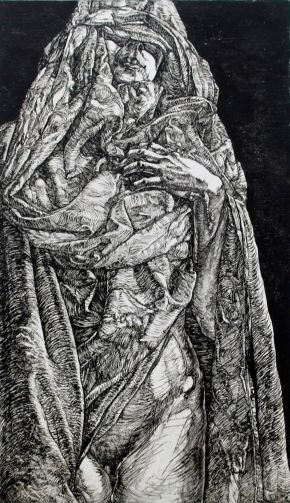 Virginity-Etching on paper-60x96cm-2014