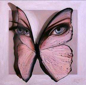 Bita Mohabbati-God Eyes-Oil on canvas-100x100cm-2009-USD700