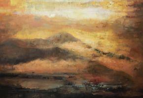 Bita Mohabbati-Sunrise-Oil on canvas-100x70cm-2017-USD800