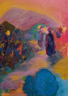 Galina Raspopina-Duelists-Oil on Canvas-50x70cm-2017-USD1000