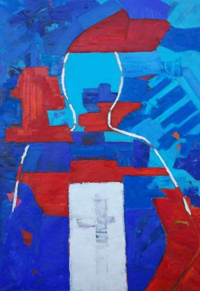 Galina Raspopina-Existence-Oil on Canvas-70x100cm-2019-USD1500