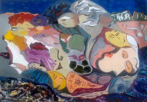 Galina Raspopina-Exodus-Oil on Canvas-70x50cm-2013-USD2000