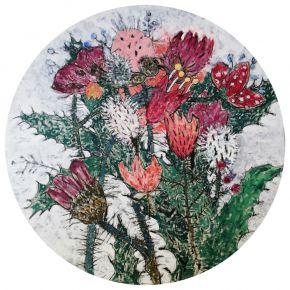 Glib Franco-Wildflowers-Oil on Canvas-120x120cm-2018-USD2000