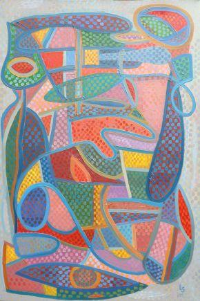 Luana Stebule-Round the clock-Oil on canvas-2019-61x92cm-USD7999