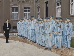 Pasquale Pacelli-Greeting to Inmates-Acrylic on Canvas-80x60cm-2017