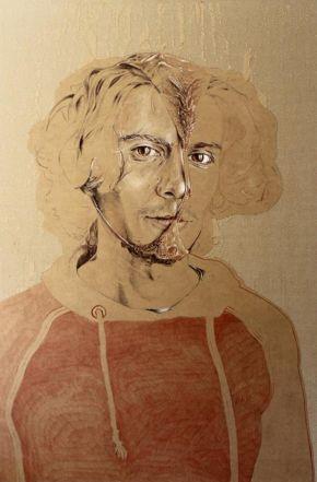 Ricardo Venturi-Intimate Portrait-100x145cm-Mixed Media on Canvas-2017-USD3000