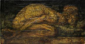 3-ROMAN NOGIN-PRAYER-Oil Painting on Canvas-92x48cm-2010-USD20000
