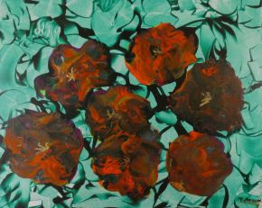 Tatyana Amantis-Flower display-Acrylic on Board-50x40cm-2020-USD800