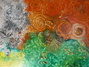 Tatyana Amantis-Music of Flowers-Acrylic on Canvas-50x35cm-2020-USD1000