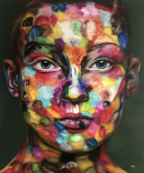 Valentina Andrees-Anna in colors-Oil on canvas-100x120cm-2019-USD5000