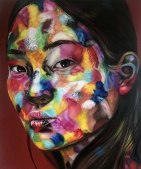 Valentina Andrees-Lin in Colors-Oil on Canvas-100x120cm-2019-USD5000
