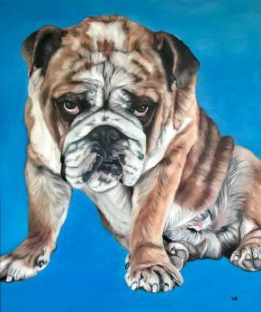 Valentina Andrees-Blue Arthur-Oil on canvas-100x120cm-2019-USD5000