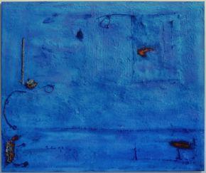 Anna Caione  Aqua Fuoco  2005, pigment _ mixed media on canvas, 100cmx120cm
