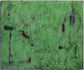 Anna Caione  Primavera  2005, pigment _ mixed media on canvas, 100cmx120cm
