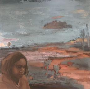 Mina Mina_ Patrice Wills_ 60 x 60cm_oil on wood