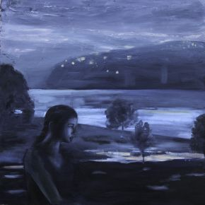 Because the Night _ Patrice Wills_oil on wood_ 60cm sq