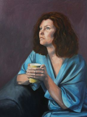 Self Portrait with Yellow Cup, Shelley Hall