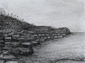 Fingal Head Rocks by Ted Dwyer