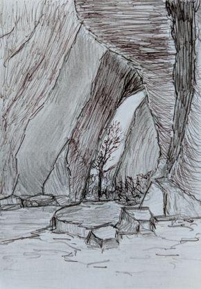 Uluru Cave by Ted Dwyer