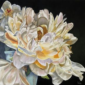 Transient Beauty 76 x 76 oil on canvas