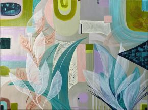 Fragments by Woo Art 100x 76 mixed media