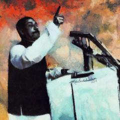 A digital portrait of The greatest Bangalee of all time, Bangabandhu Sheikh Mujibur Rahman
