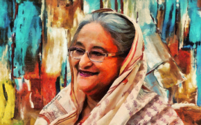 Sheikh Hasina - the leader by Artist Saidul Islam