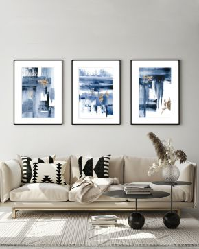 Rise Triptych -Modern-Abstract-art-Larissa-Nguyen