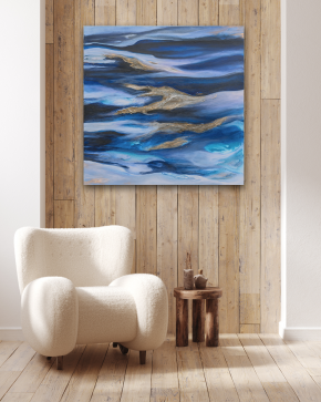 Call of the Sea in situ 2 - Modern Abstract Art - Larissa Nguyen