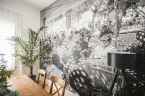 Cafe in Soler Wall Mural Ballarat