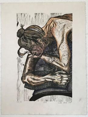 12. Annie 1990 Hand coloured Woodcut 76 x 57.5cm